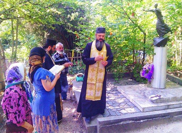 День памяти Грина - ПАНИХИДА и ВОЗЛОЖЕНИЕ ЦВЕТОВ