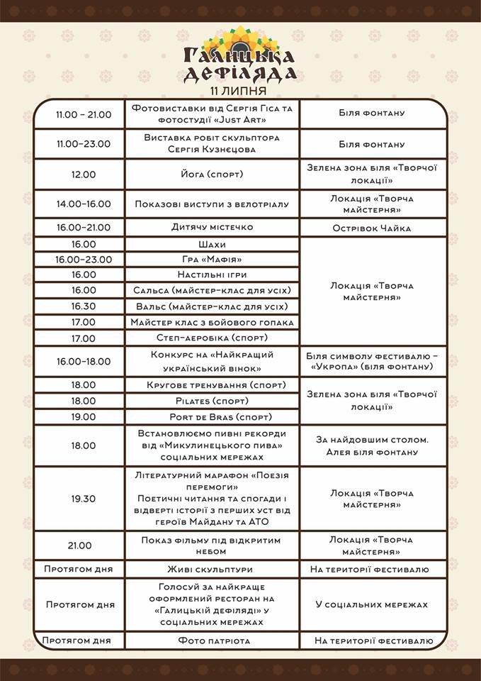 У Тернополі на «Галицькій дефіляді» встановлять пивні рекорди (повна програма) (фото) - фото 2
