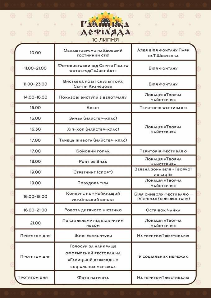 У Тернополі на «Галицькій дефіляді» встановлять пивні рекорди (повна програма) (фото) - фото 1