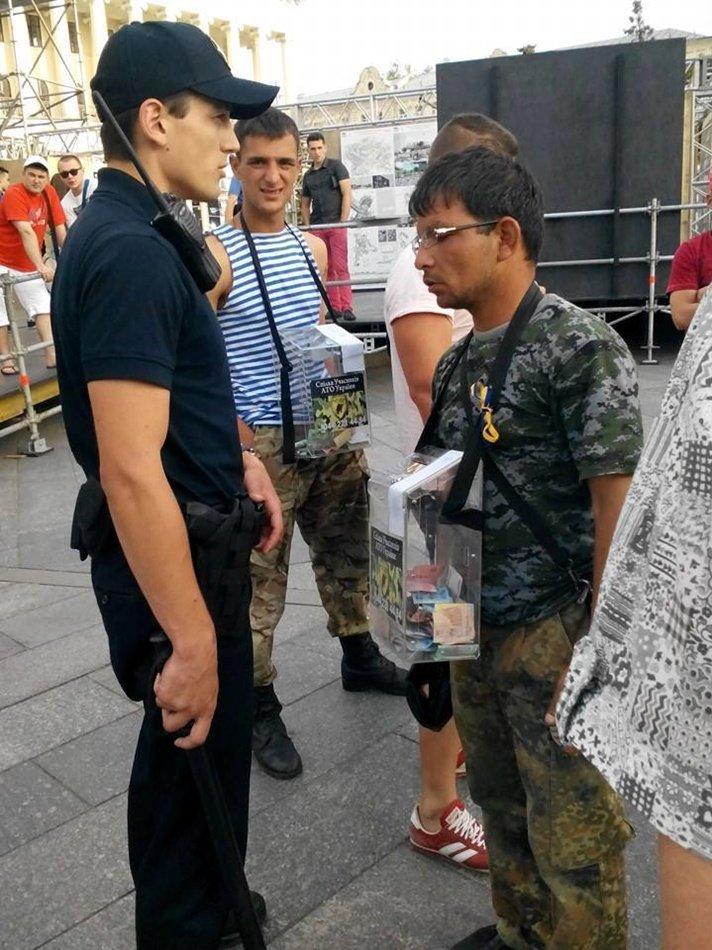 Полицейские задержали псевдо-волонтера на Майдане (ВИДЕО) (фото) - фото 1