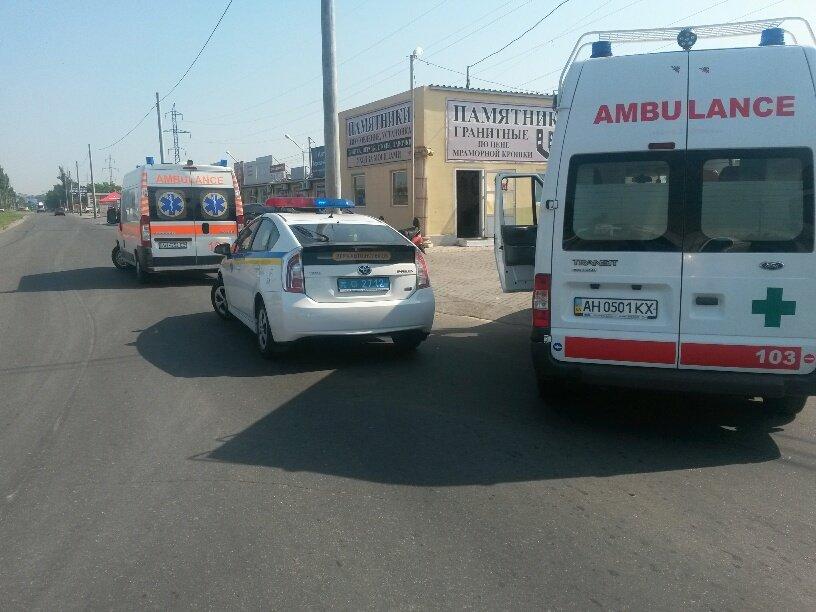 Тройное ДТП в Мариуполе: пострадали 2 человека (ФОТО), фото-2