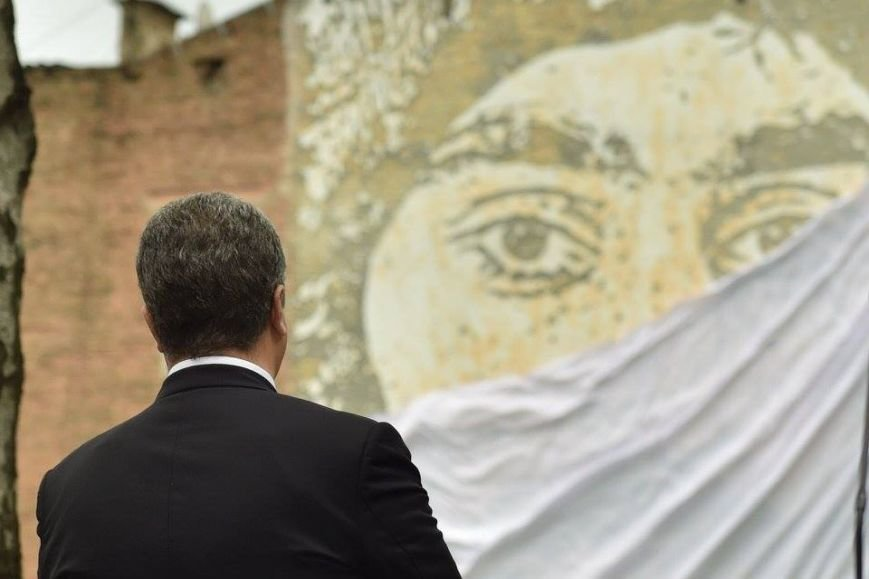 Президент Украины открыл фреску Сергея Нигояна (ФОТО), фото-7