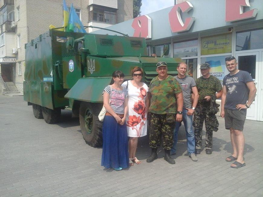 Забронированный на ВБТЗ и разукрашенный детьми УРАЛ передали бойцам 25-й бригады, фото-2