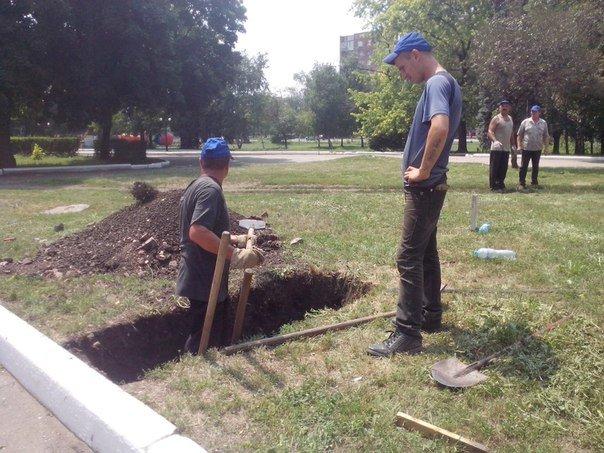 В центре города Красноармейска меняют газовые трубы, фото-5