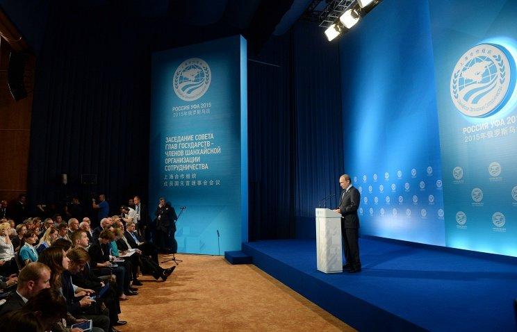 Путин на саммите ШОС