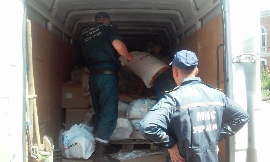 Венгрия передала в Павлоград более 200 комплектов с гуманитаркой для переселенцев, фото-1
