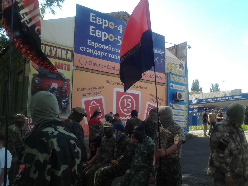 «Правый сектор» пикетировал Жовтневый райотдел милиции Мариуполя (ФОТО), фото-5