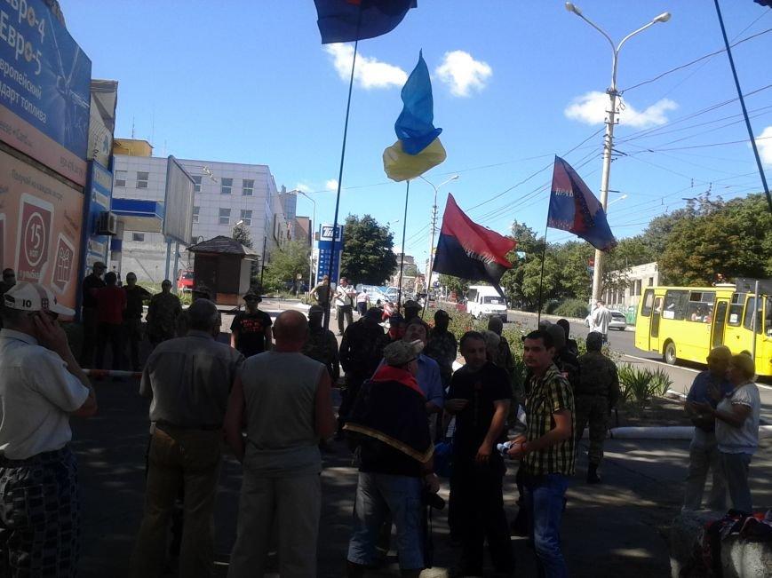 «Правый сектор» пикетировал Жовтневый райотдел милиции Мариуполя (ФОТО), фото-11