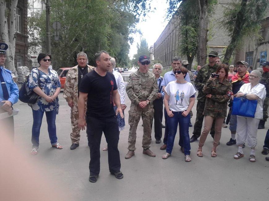 «Правый сектор» пикетировал Жовтневый райотдел милиции Мариуполя (ФОТО), фото-10