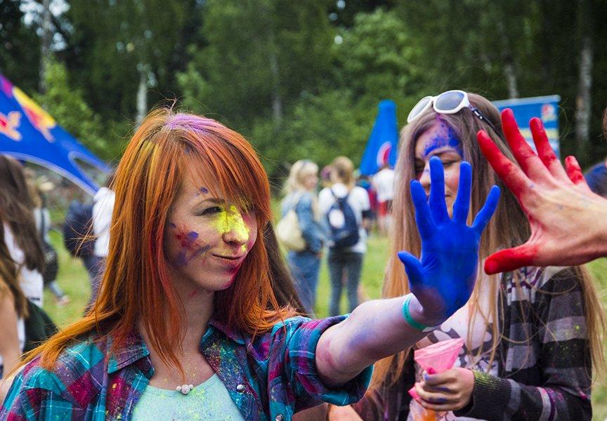 В Киеве прошел праздник красок Холи (ФОТОРЕПОРТАЖ) (фото) - фото 1