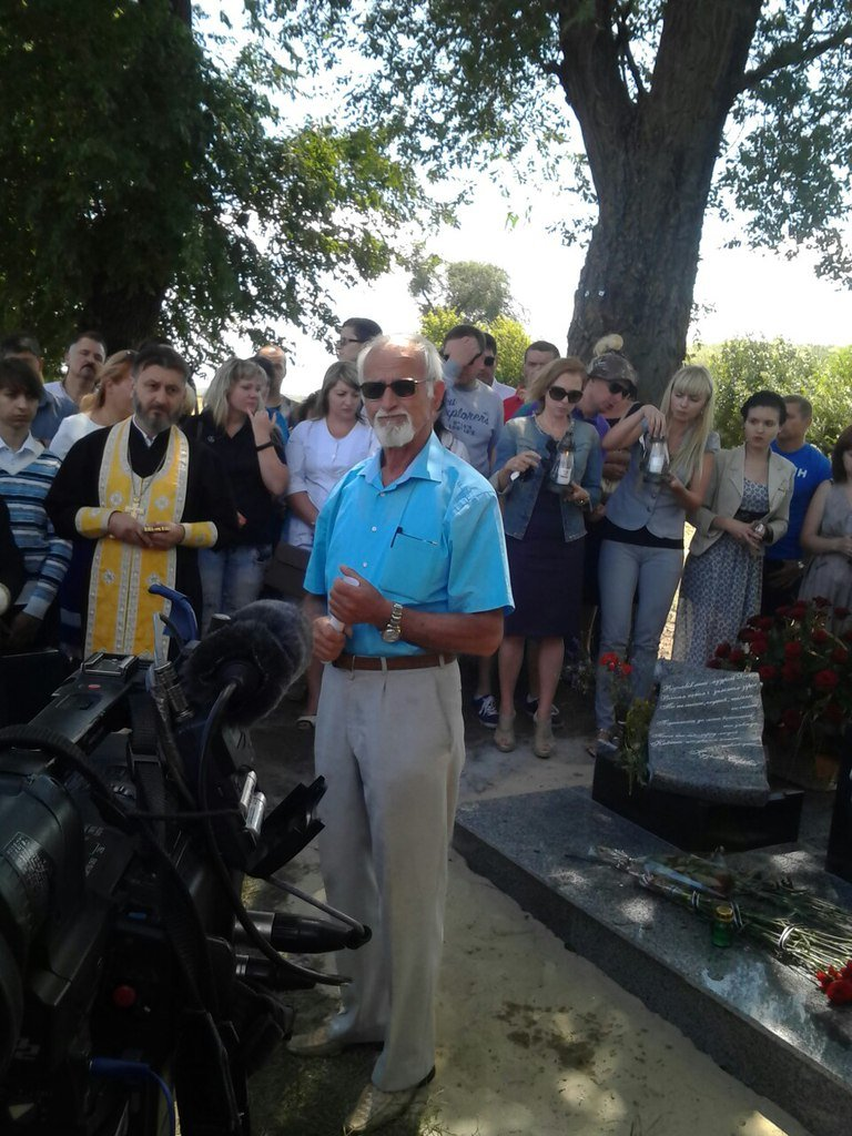 Под Кривым Рогом - на месте гибели Кузьмы Скрябина установили памятный знак (ФОТО, ВИДЕО) (фото) - фото 1