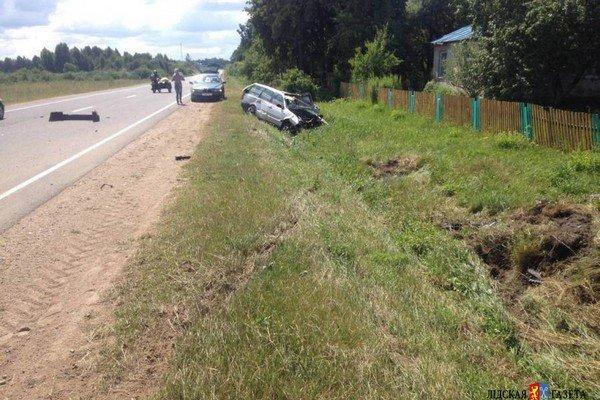 В Лидском районе собака спровоцировала ДТП: автомобиль съехал в кювет и опрокинулся (фото) - фото 3