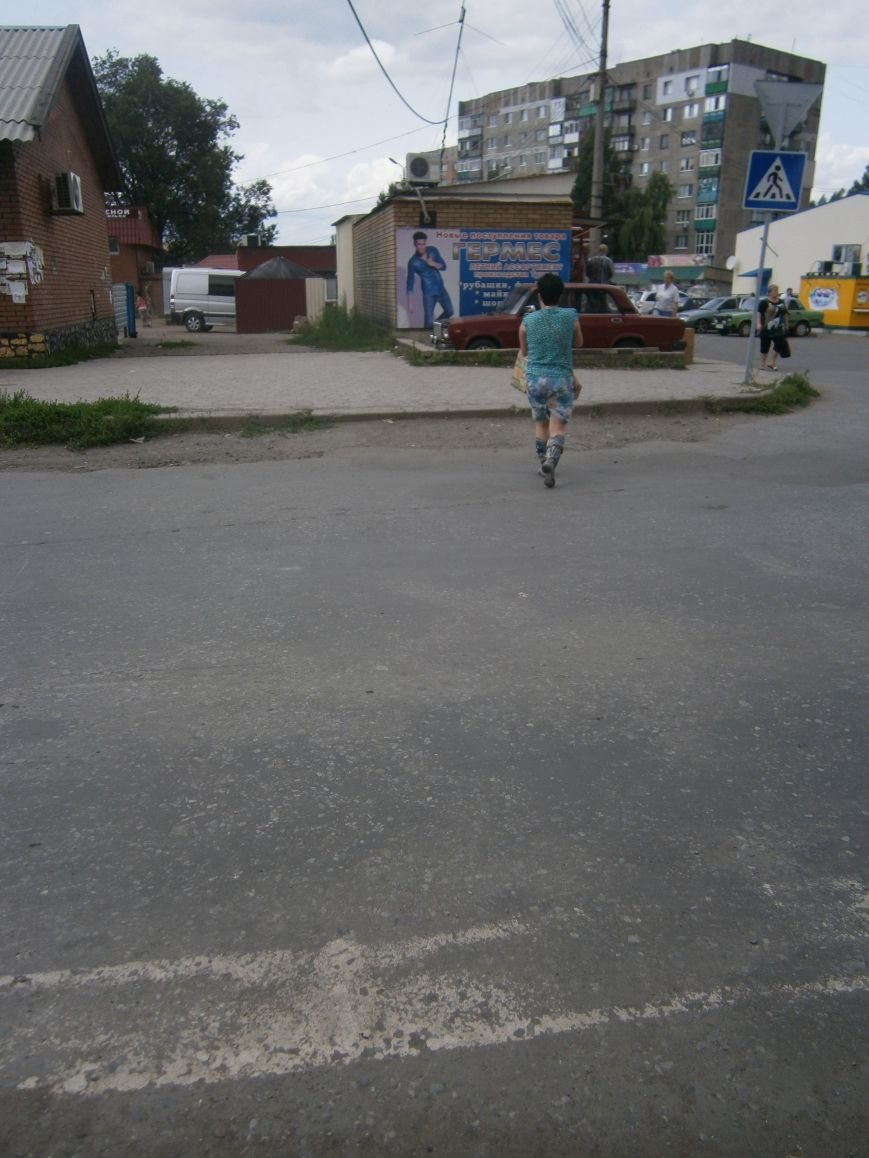 В Димитрове приступили к нанесению дорожной разметки (ФОТО) (фото) - фото 1