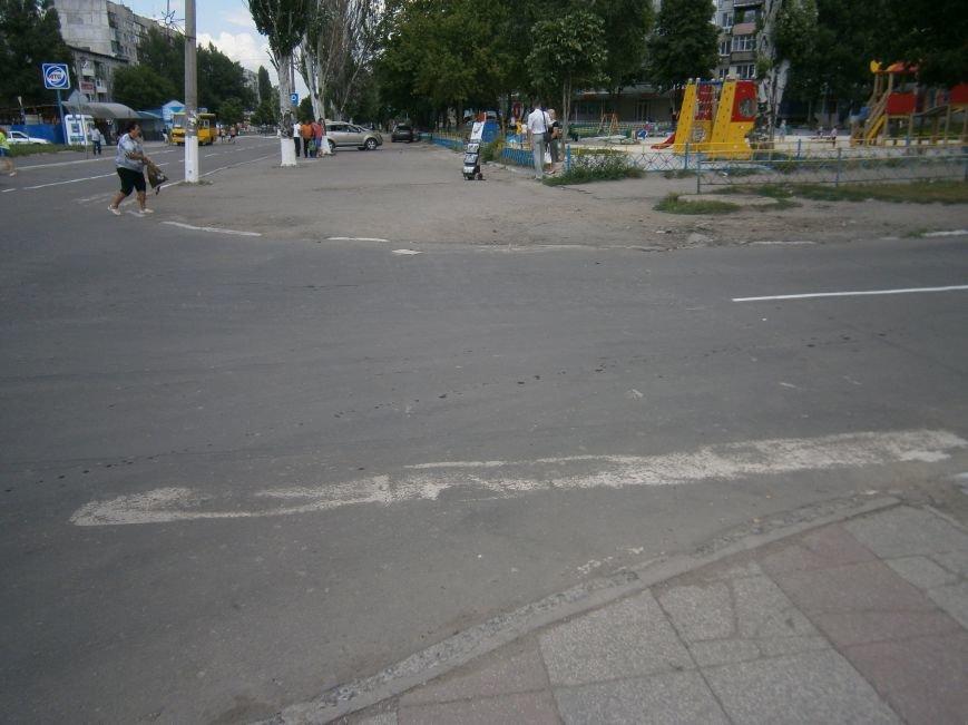 В Димитрове приступили к нанесению дорожной разметки (ФОТО) (фото) - фото 4