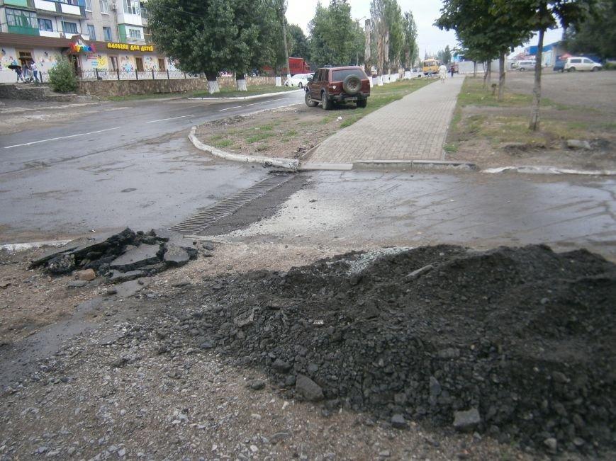 Попытка усовершенствовать ливневую систему в Димитрове – провалилась (фото) - фото 13