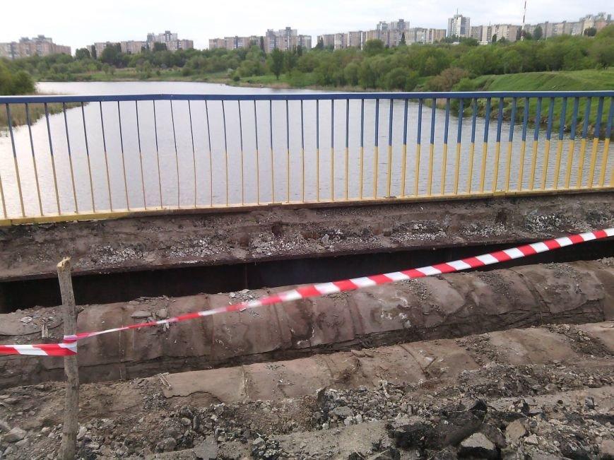 Перила на мосту Заречный -129 квартал после ремонта будут зеленого цвета, а не желто-синего (ФОТО), фото-3