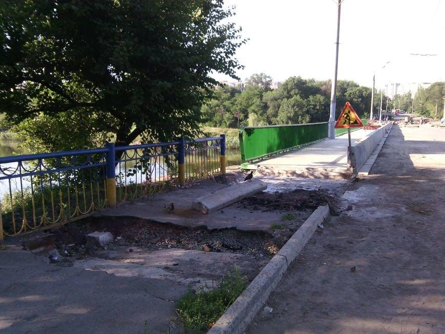 Перила на мосту Заречный -129 квартал после ремонта будут зеленого цвета, а не желто-синего (ФОТО), фото-4