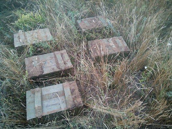 Тайник с боеприпасами из зоны АТО раскопали на Днепропетровщине (фото) - фото 1