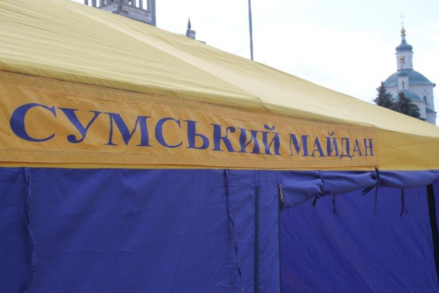 Опять Майдан? На пл. Независимости «Правый сектор» бессрочно поставил палатку и притянул покрышки (ФОТО), фото-2