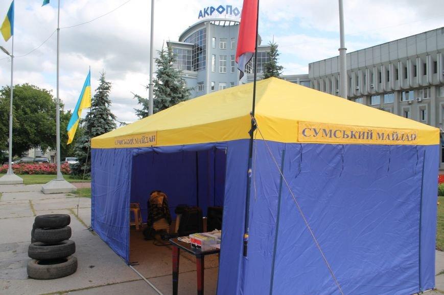 Опять Майдан? На пл. Независимости «Правый сектор» бессрочно поставил палатку и притянул покрышки (ФОТО), фото-1