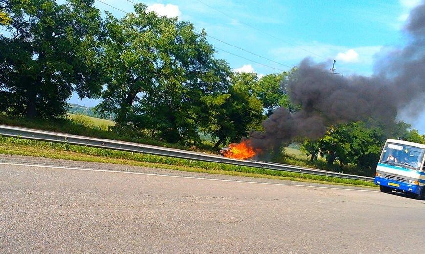 трасса авто горит