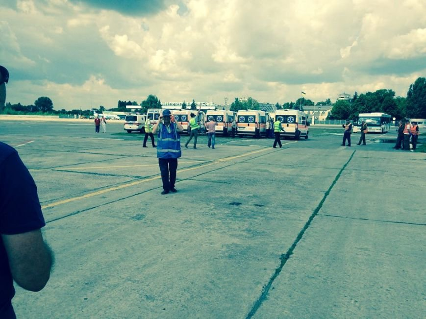 За прошедшие сутки Днепропетровск принял четыре борта с ранеными из зоны АТО, фото-1