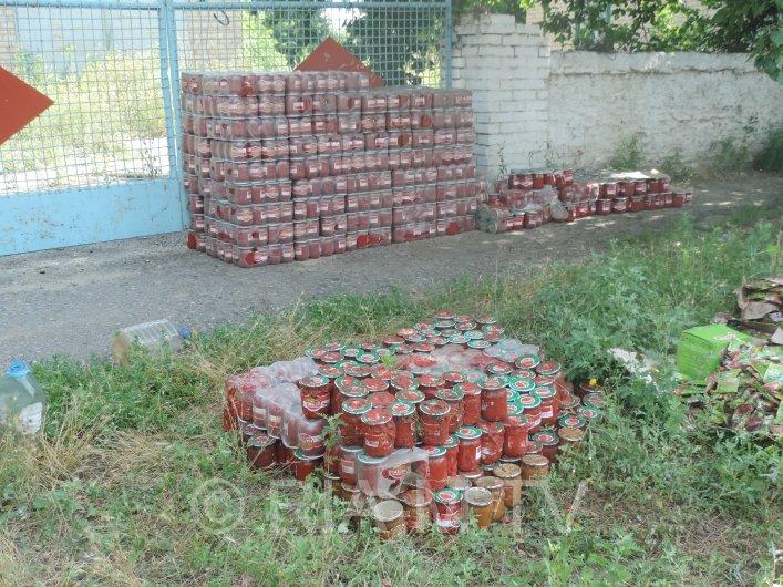 Под Мелитополем перевернулась фура с томатами (ФОТО) (фото) - фото 1