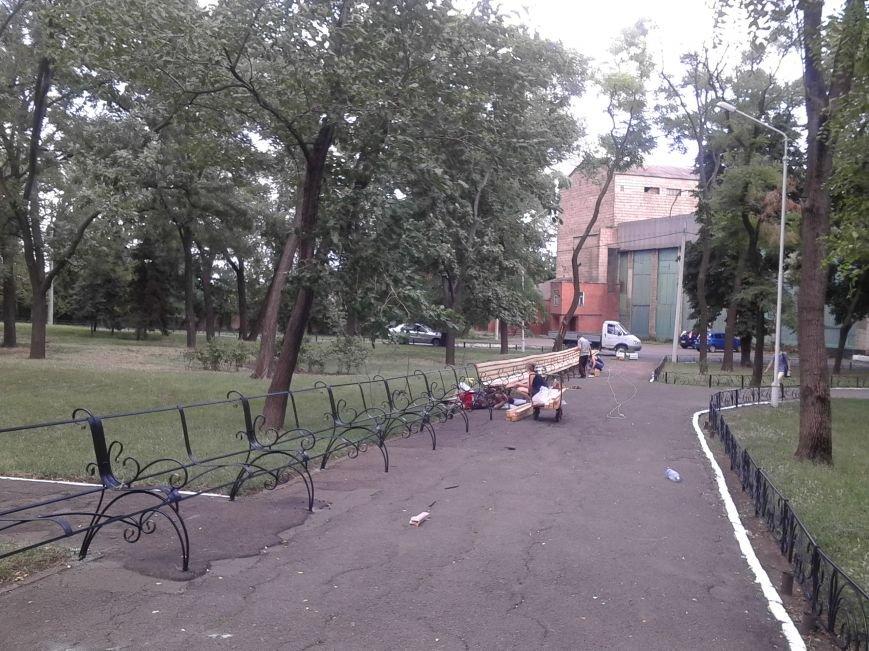 В Городском саду Мариуполя установят самую длинную скамейку (ФОТО), фото-1