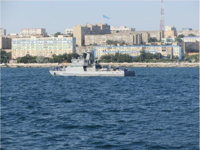 Боевые корабли ВМС Казахстана развернули стрельбы на Каспии, фото-4