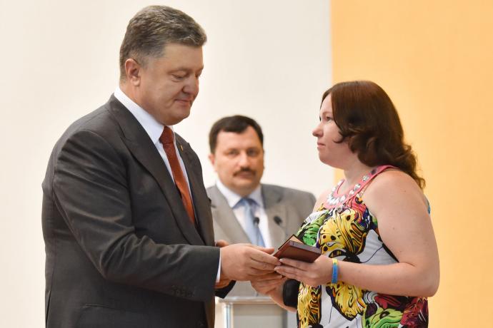 Порошенко запустил доменную печь и наградил металлургов на Днепропетровщине, фото-8