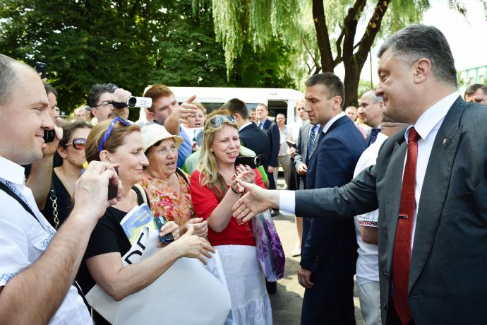 Порошенко запустил доменную печь и наградил металлургов на Днепропетровщине, фото-9