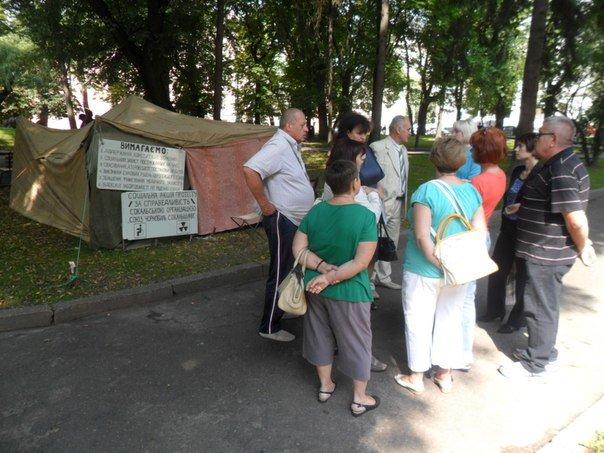 Чорнобильці Львівщини оголосили безстрокову акцію протесту (ФОТО+ВІДЕО) (фото) - фото 2