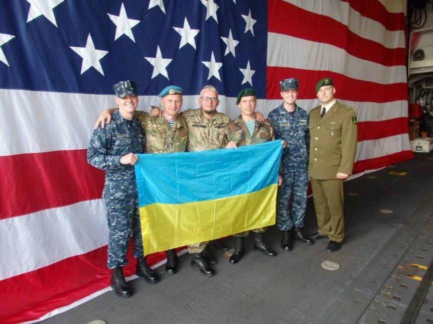 Український прапор на америнському судні