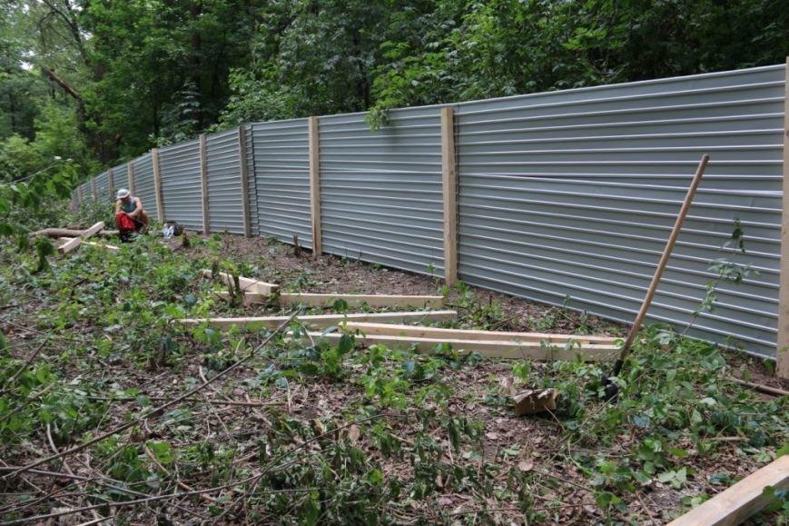 На Кордовке уничтожили 78 деревьев и поставили забор, фото-8