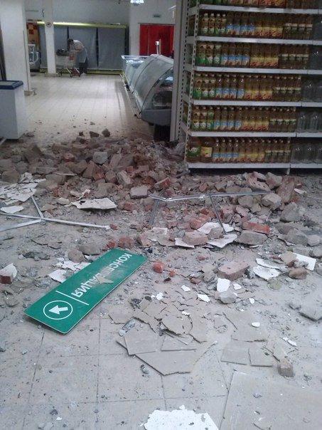 Фотофакт. «Амстор» на ул.Университетская в Донецке после обстрела (фото) - фото 2