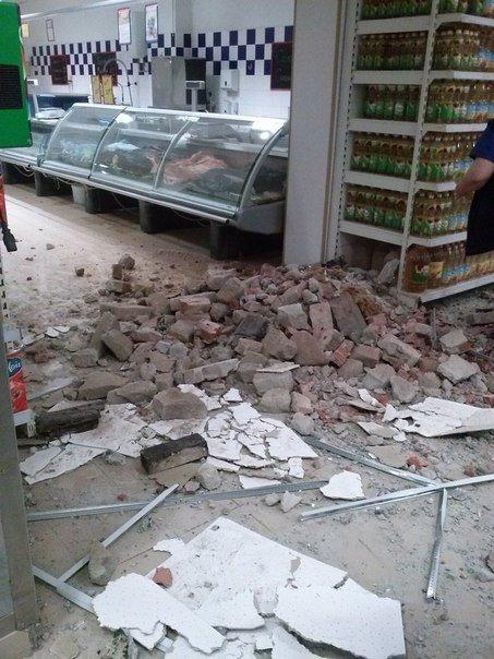 Фотофакт. «Амстор» на ул.Университетская в Донецке после обстрела (фото) - фото 6