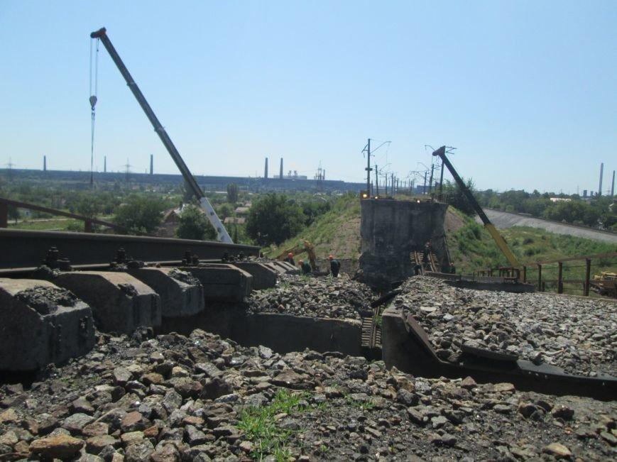 Железнодорожный мост через Кальчик восстановят за 3 месяца (ФОТО+ВИДЕО), фото-1