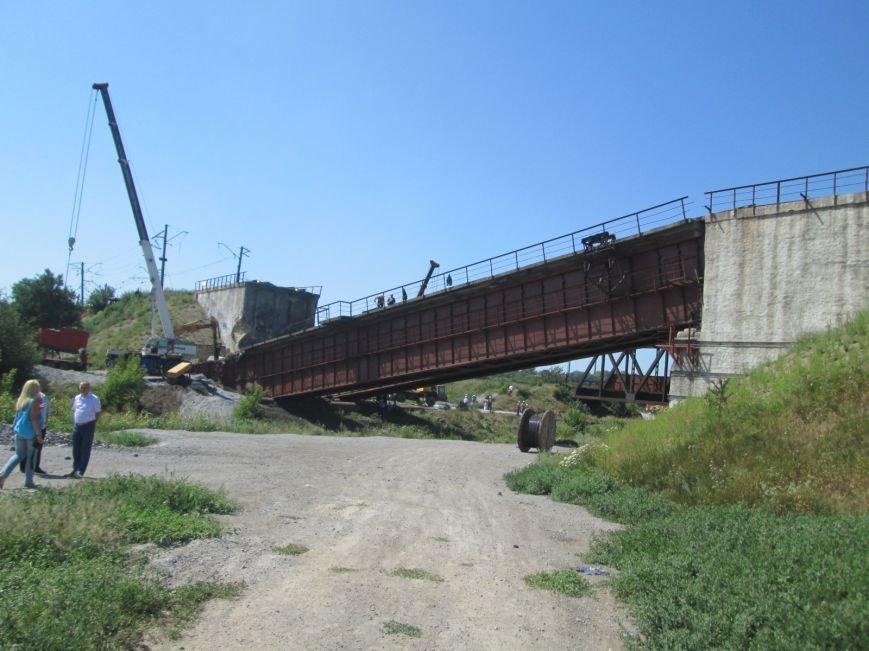 Железнодорожный мост через Кальчик восстановят за 3 месяца (ФОТО+ВИДЕО), фото-10