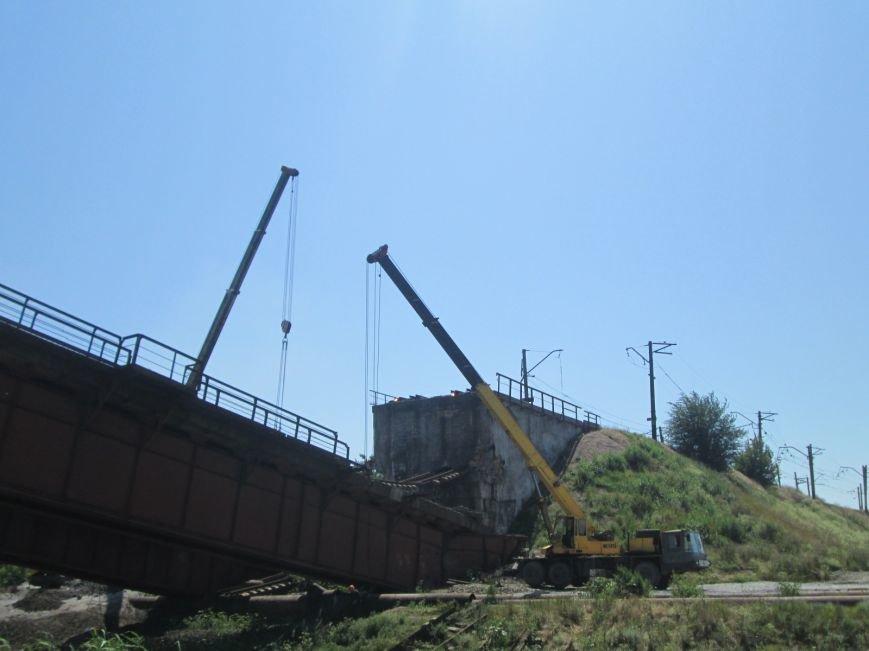 Железнодорожный мост через Кальчик восстановят за 3 месяца (ФОТО+ВИДЕО), фото-6