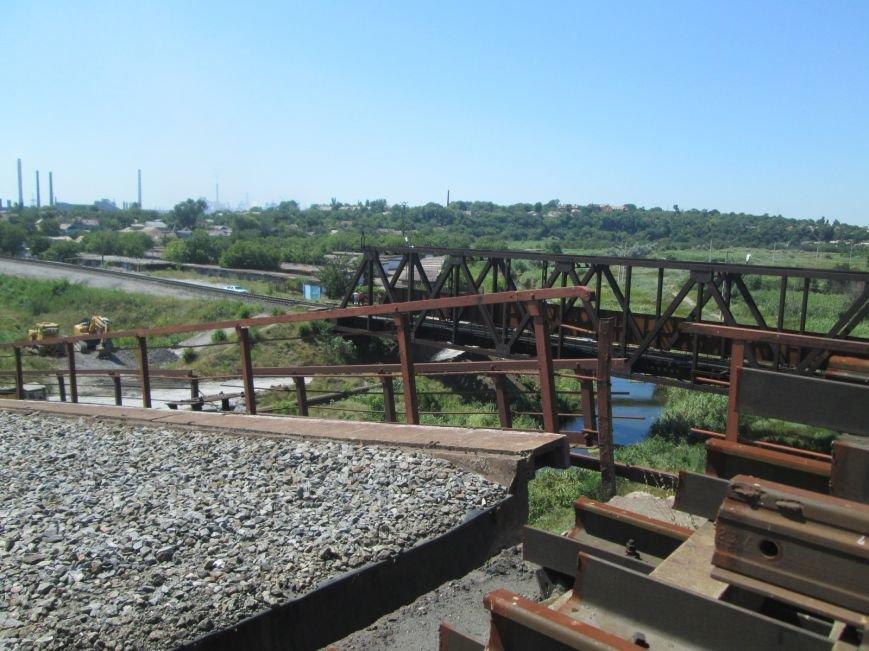 Железнодорожный мост через Кальчик восстановят за 3 месяца (ФОТО+ВИДЕО), фото-2