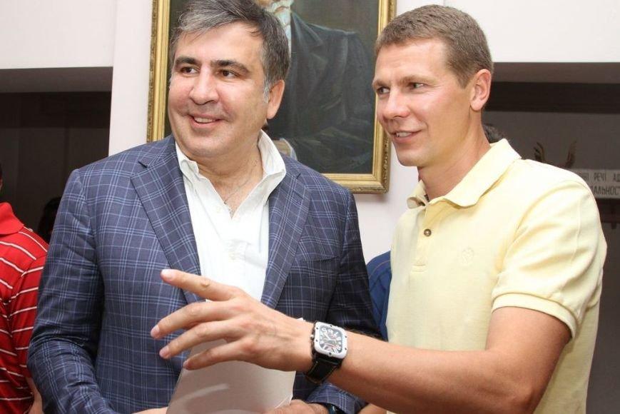 Черниговцы радостно встретили Саакашвили, фото-8