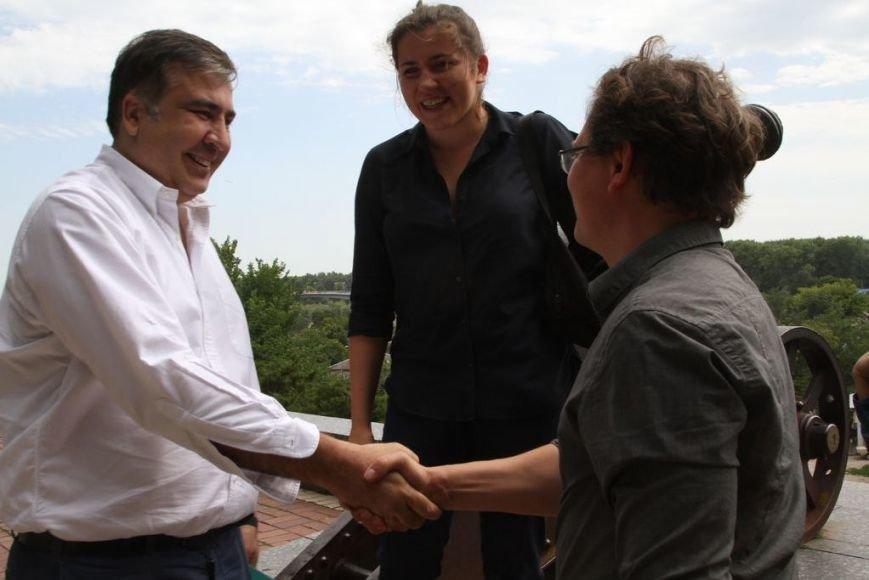 Черниговцы радостно встретили Саакашвили, фото-9