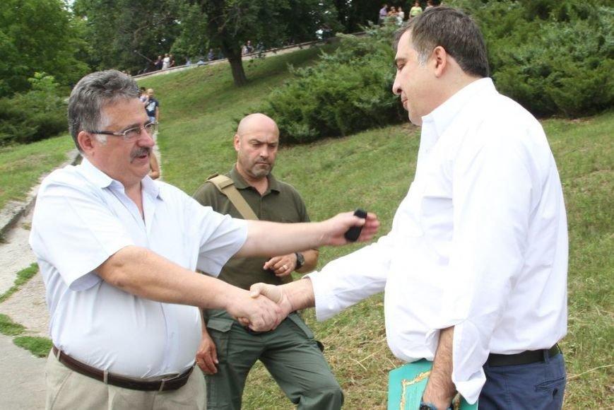 Черниговцы радостно встретили Саакашвили, фото-6