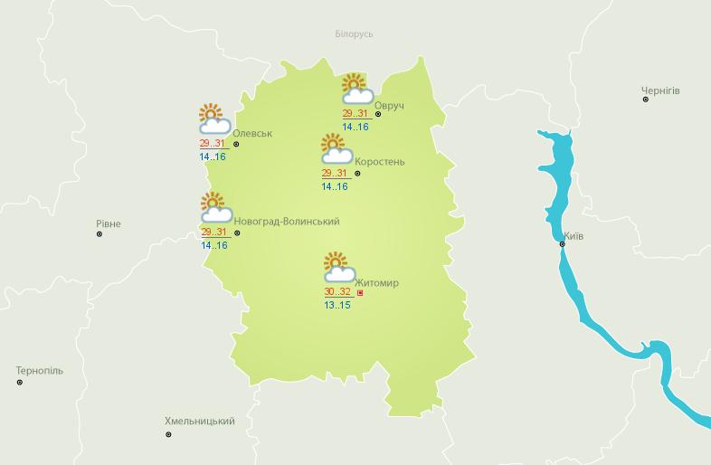 Протягом найближчих днів в Житомирі  очікується спекотна погода (фото) - фото 1