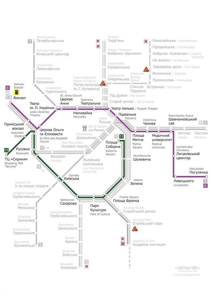 У Львові змінено рух трамваїв (СХЕМА) (фото) - фото 2