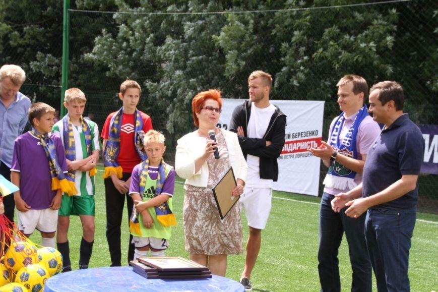 Ярмоленко и Березенко сыграли за команду Чернигова в честь открытия нового футбольного поля, фото-1