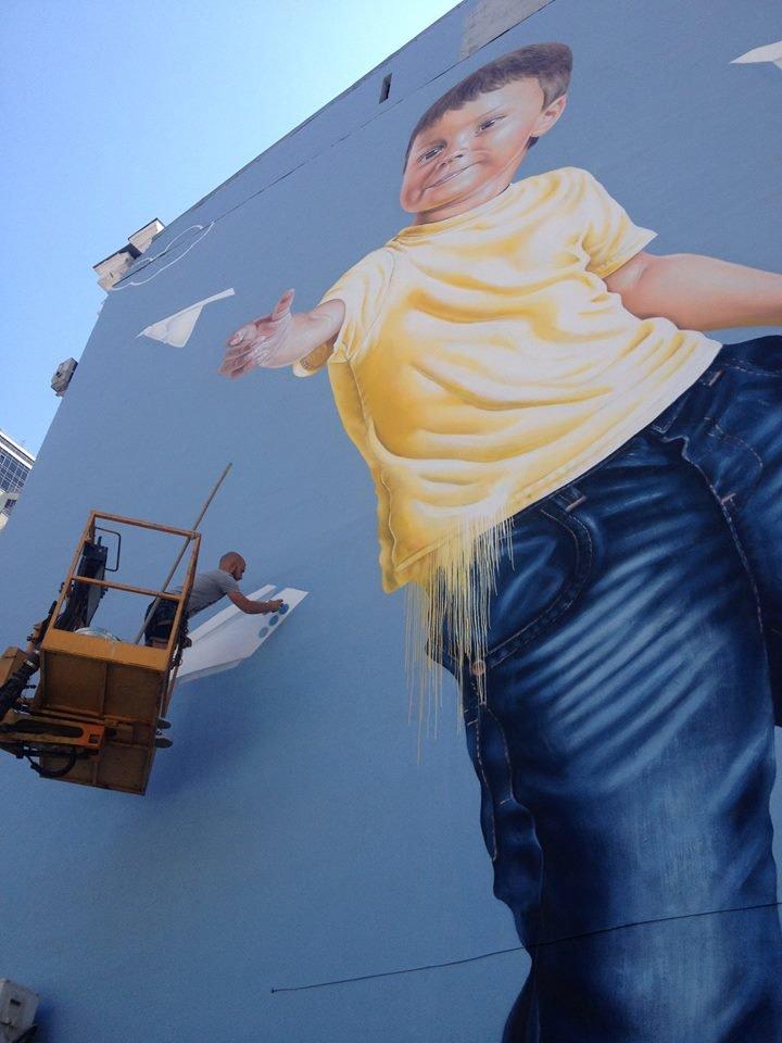 В Киеве художник новый мурал посвятил детям (ФОТО) (фото) - фото 1
