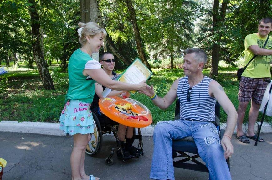 На озере Рапное краматорские инвалиды соревновались в плавании (ФОТО), фото-9
