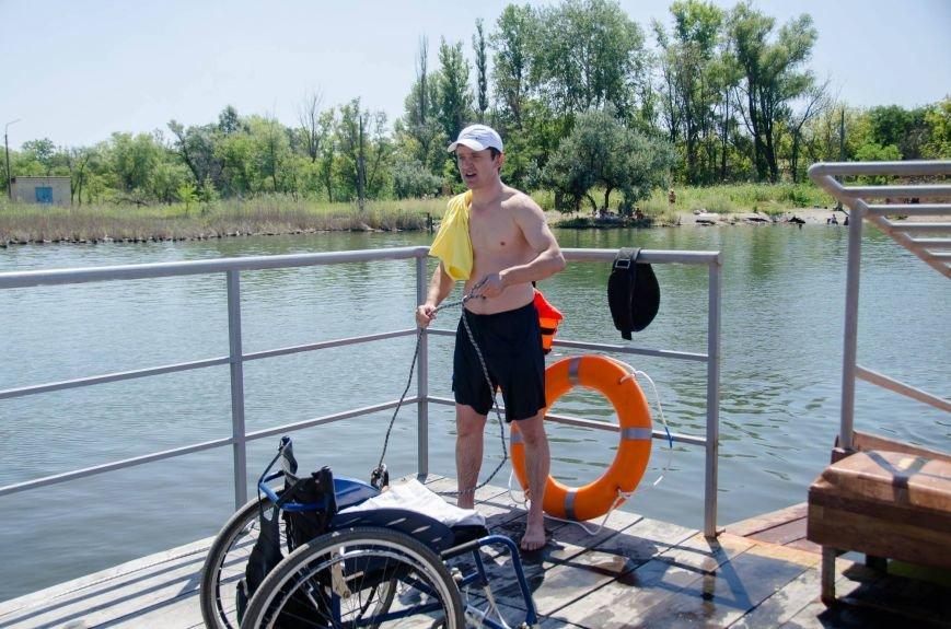 На озере Рапное краматорские инвалиды соревновались в плавании (ФОТО), фото-7