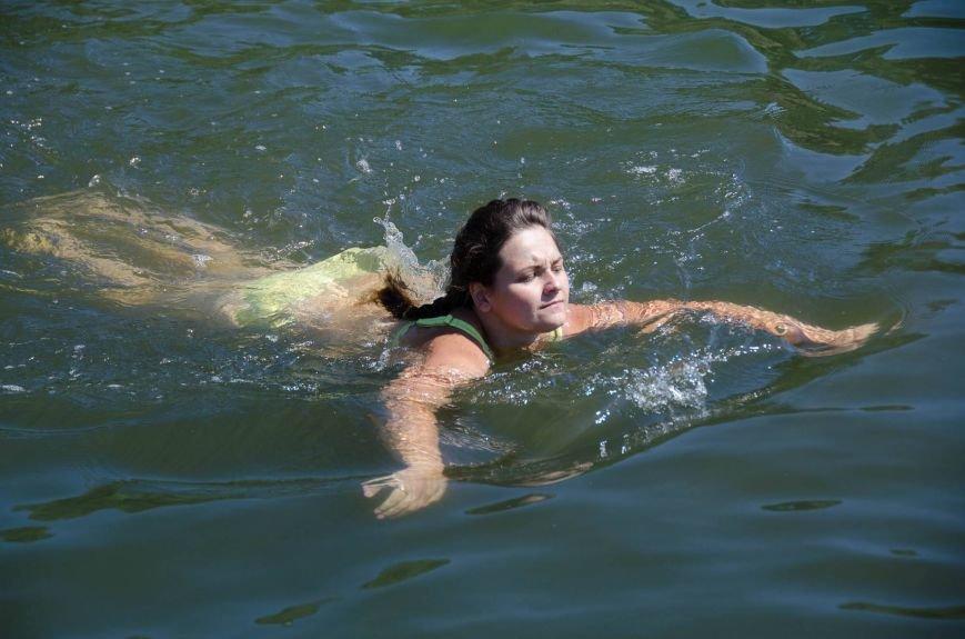 На озере Рапное краматорские инвалиды соревновались в плавании (ФОТО), фото-5